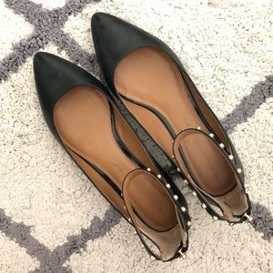 New Topshop Lace Up Pointed Flat - size 7.5, 38
